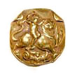 gold figural Button